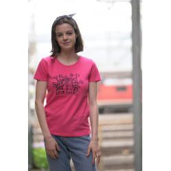 fuchsia pink Los Yukas...